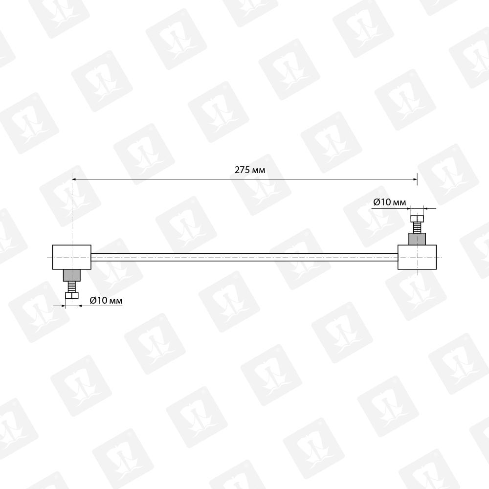 Чертеж стойки стабилизатора на ЛАДА Веста с заводским параметрами